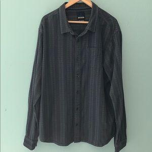 Prana XL Breathe Gray & Black Long Sleeve Shirt
